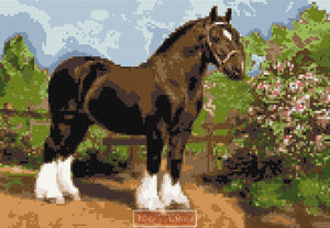 Shire horse v2 counted cross stitch kit