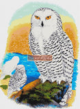 Snowy owl (v2) counted cross stitch kit