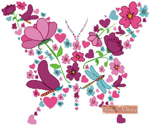Spring butterfly counted cross stitch kit