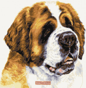 St Bernard counted cross stitch kit