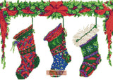 Christmas stockings counted cross stitch kit