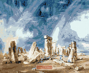 Stonehenge by John Constable counted cross stitch kit