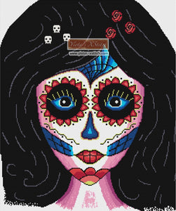 Sugar skull girl (No3) counted cross stitch kit