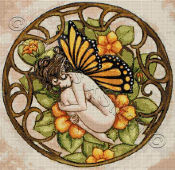 Sweet dreams butterfly fairy counted cross stitch kit