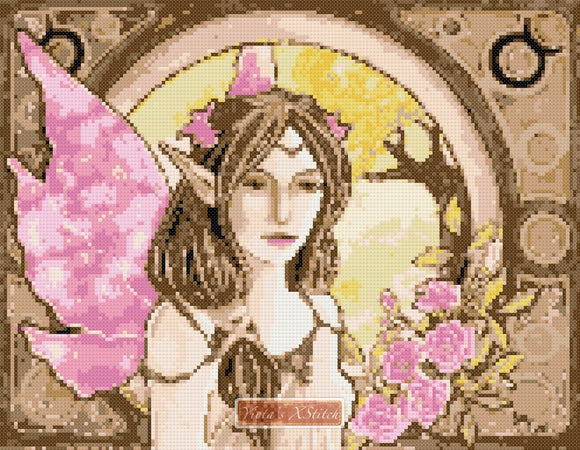 Taurus fairy counted cross stitch kit