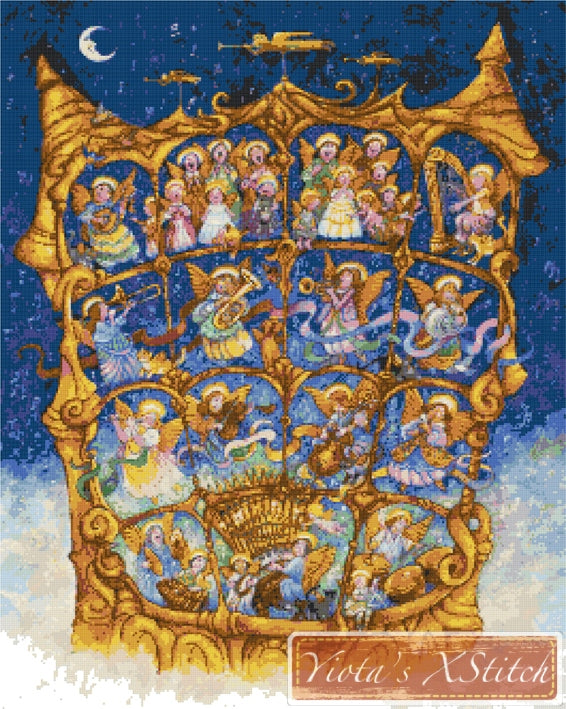 The angels sing, large and advanced counted cross stitch kit