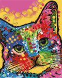 Tilt cat abstract counted cross stitch kit