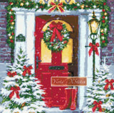 Town house Christmas counted cross stitch kit