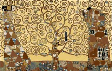 Tree of life by Klimt counted cross stitch kit