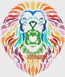 Tribal rainbow lion counted cross stitch kit