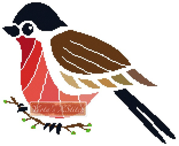 Tribal robin counted cross stitch kit