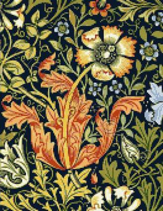 Tulip by William Morris counted cross stitch kit