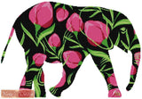 Tulips elephant counted cross stitch kit