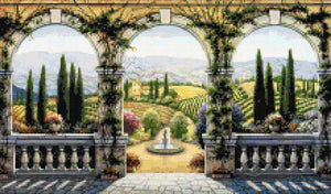 Tuscan villa counted cross stitch kit