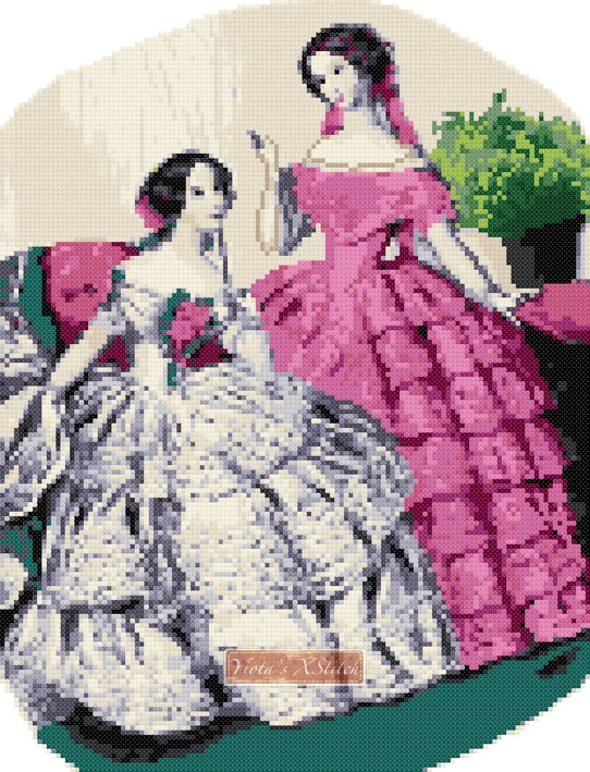 Victorian beauties v2 counted cross stitch kit