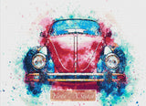 Beetle car counted cross stitch kit