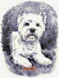 Westie No3 counted cross stitch kit