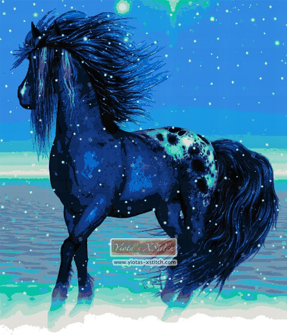 Winter horse counted cross stitch kit