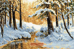 Winter near Schierke, large and advanced counted cross stitch kit.