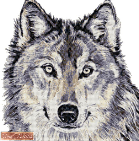 Wolf counted cross stitch kit