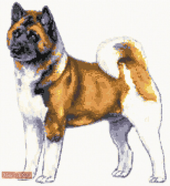 Akita No2 counted cross stitch kit