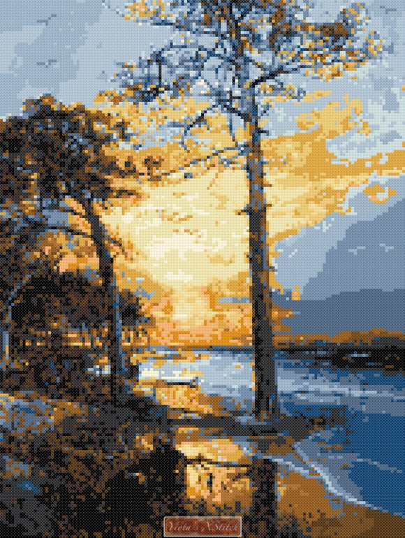 At Atlantic city seascape counted cross stitch kit