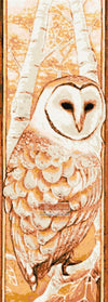 Autumn barn owl counted cross stitch kit