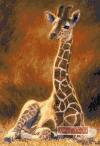 Baby giraffe counted cross stitch kit