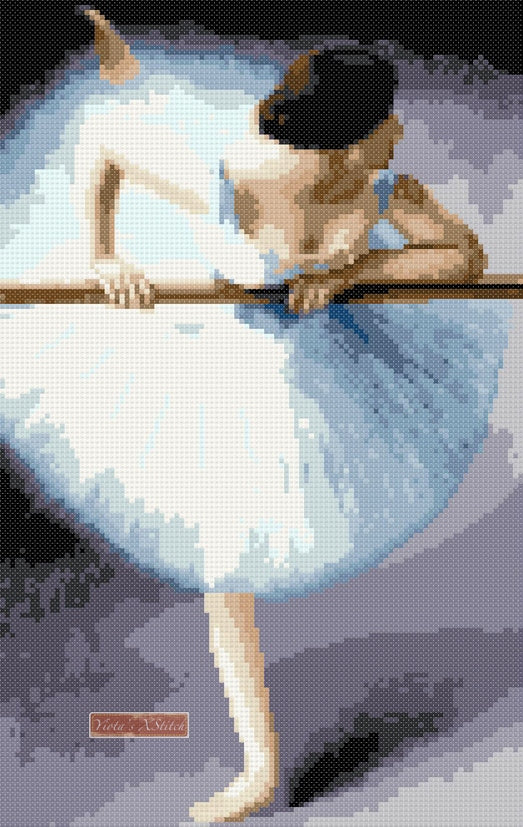 Ballerina La Danseuse counted cross stitch kit