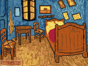 The bedroom by Van Gogh cross stitch kit
