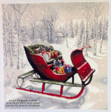 Christmas sleigh in snow counted cross stitch kit