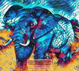 Elephant in circles counted cross stitch kit