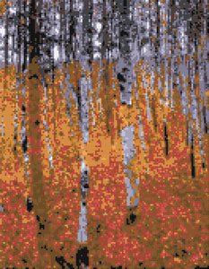 Forest (v2)  Klimt counted cross stitch kit