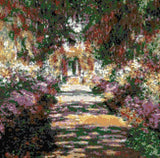 Garden path Monet counted cross stitch kit