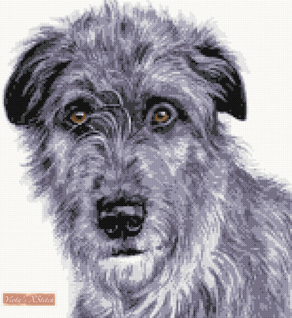 Irish Wolfhound counted cross stitch kit