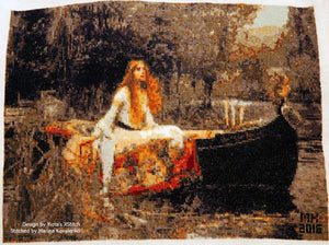 Lady of Shalott by Waterhouse counted cross stitch kit