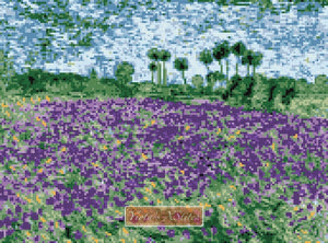 Lavender field counted cross stitch kit
