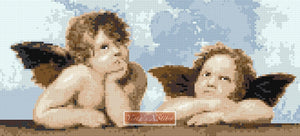Little angels by Raphael counted cross stitch kit