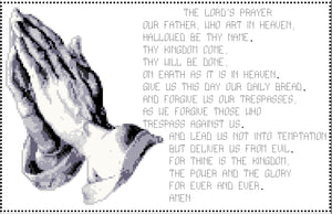 Lords prayer counted cross stitch kit