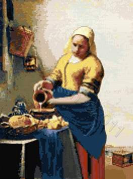 Milkmaid by Vermeer counted cross stitch kit