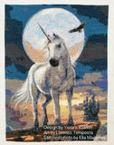 Moonlight unicorn counted cross stitch kit