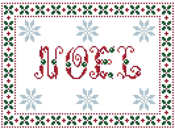 Noel counted cross stitch kit