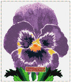 Purple pansy counted cross stitch kit