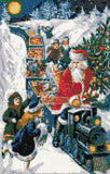 Santas train (v2) counted cross stitch kit