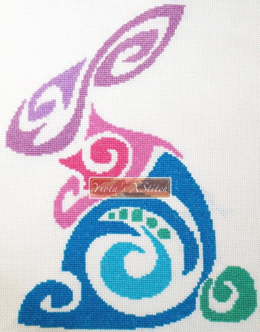 Tribal rabbit No2 counted cross stitch kit