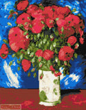 Vase with red poppies Van Gogh counted cross stitch kit