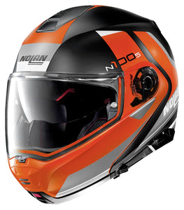 NOLAN N100-5 HILLTOP MATT BLACK/ORANGE
