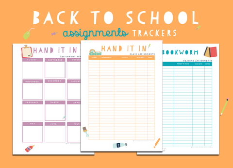 Back To School Assignment Trackers