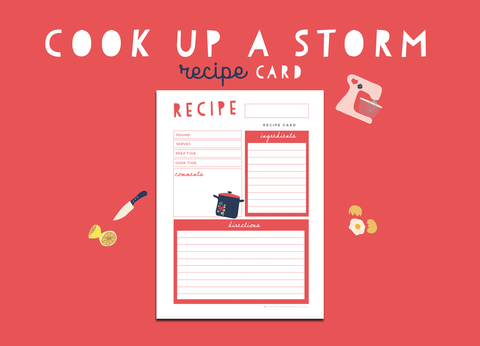 Cook Up A Storm Recipe Card (Strawberry)