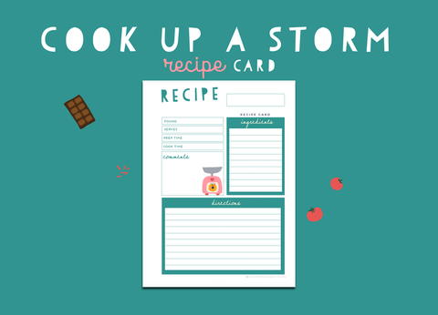 Cook Up A Storm Recipe Card (Meadow)